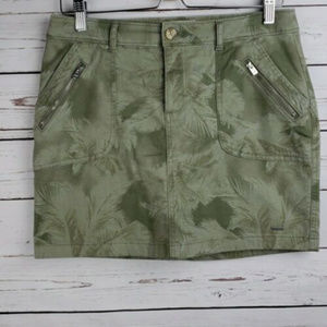 Hollister Sz 7 Juniors Tree Print Mini Skirt